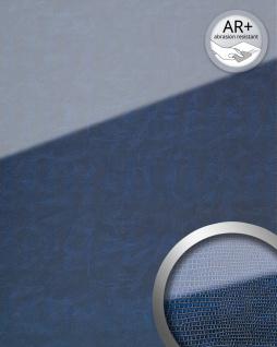 Wandpaneel Glas-Optik WallFace 16984 LEGUAN Luxus Dekor Wandverkleidung abriebfest selbstklebend dunkel blau | 2, 60 qm