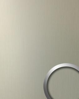 Wandpaneel Design Platte WallFace 12433 DECO EyeCatch Dekor selbstklebende Tapete Wanddeko champagne gebürstet | 2, 60 qm