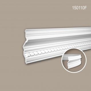 Eckleiste PROFHOME 150110F Zierleiste Flexible Leiste Stuckleiste Neo-Klassizismus-Stil weiß 2 m