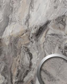 Wandpaneel Marmor Optik WallFace 19340 MARBLE ALPINE Wandverkleidung glatt in Naturstein Optik glänzend selbstklebend abriebfest grau braun 2, 6 m2