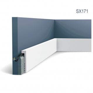 Sockelleiste Orac Decor SX171 AXXENT Abdeckleiste Zierleiste Fußleiste Modernes Design weiß 2m