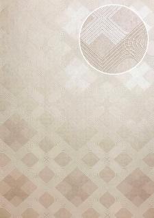 Grafik Tapete ATLAS XPL-588-3 Vliestapete strukturiert mit geometrischen Formen schimmernd creme beige hell-elfenbein perl-weiß 5, 33 m2