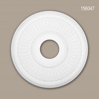 Rosette PROFHOME 156047 Zierelement Deckenelement Neo-Klassizismus-Stil weiß Ø 40, 4 cm