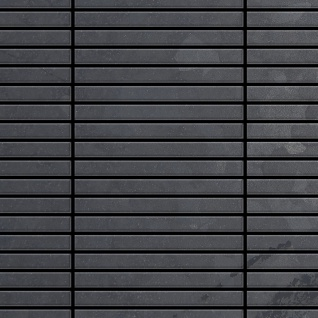 Mosaik Fliese massiv Metall Rohstahl gewalzt in grau 1, 6mm stark ALLOY Linear-RS 0, 94 m2