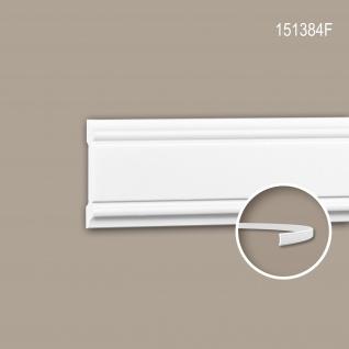 Wand- und Friesleiste PROFHOME 151384F Stuckleiste Flexible Leiste Zierleiste Neo-Klassizismus-Stil weiß 2 m