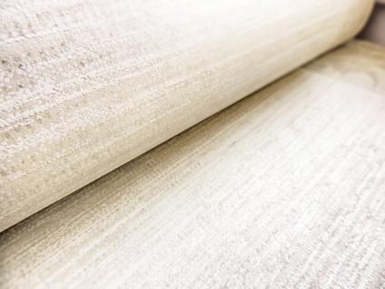 Streifen Tapete ATLAS CLA-596-5 Vliestapete glatt mit grafischem Muster glitzernd creme perl-gold weiß beige-grau 5, 33 m2 - Vorschau 3