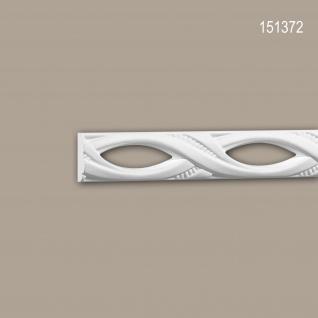 Wand- und Friesleiste PROFHOME 151372 Stuckleiste Zierleiste Friesleiste Neo-Empire-Stil weiß 2 m