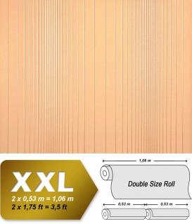 Streifen Tapete XXL Vliestapete EDEM 934-32 Hochwertige heißgeprägte Struktur Metallic Effekt orange pfirsich gold metallic 10, 65 m2