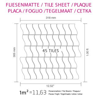 Mosaik Fliese massiv Metall Edelstahl marine gebürstet in grau 1, 6mm stark ALLOY Flux-S-S-MB Designed by Karim Rashid 0, 86 m2 - Vorschau 4