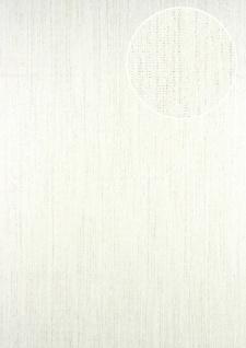 Streifen Tapete ATLAS CLA-596-1 Vliestapete glatt mit grafischem Muster glitzernd weiß perl-weiß 5, 33 m2