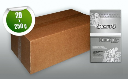 STATUS PROFI Kleister Kleber für schwere normale Vlies-Tapeten Malervlies Vlieskleber 1 Karton 5 kg für max. 800 qm