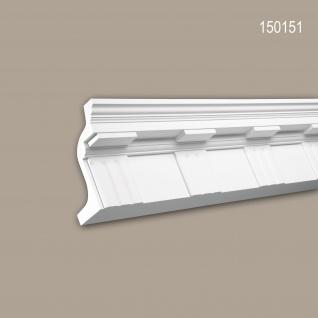 Eckleiste PROFHOME 150151 Zierleiste Stuckleiste Zeitloses Klassisches Design weiß 2 m