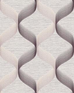 Retro Tapete EDEM 1034-14 Vinyltapete strukturiert mit grafischem Muster glitzernd creme beige braun 5, 33 m2
