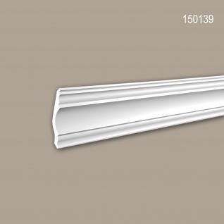Eckleiste PROFHOME 150139 Zierleiste Stuckleiste Neo-Klassizismus-Stil weiß 2 m