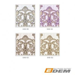 3D Barock Tapete XXL Vliestapete EDEM 648-92 Prunkvolles Damast-Muster lila violett flieder bronze dezente glitzer 10, 65 m2 - Vorschau 4