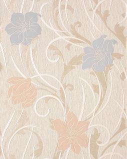 Blumen Tapete EDEM 111-33 Stilvolle Floral Blumentapete Vinyltapete creme beige hell-violett hell-rosa permutt-akzent