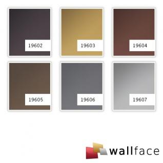 Wandverkleidung Metalloptik WallFace 19605 Brown matt Wandpaneel glatt unifarben matt selbstklebend abriebfest braun 2, 6 m2 - Vorschau 3