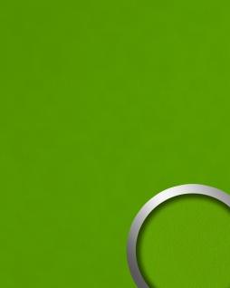 Dekorpaneel Nappaleder Optik WallFace 20423 Antigrav Apple Green Wandverkleidung glatt in Leder Optik matt grün 2, 6 m2