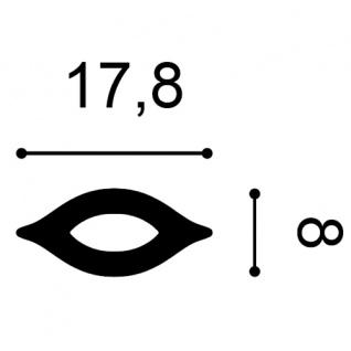 Stuckgesims von Orac Decor G76 Scala Ulf Moritz LUXXUS Zierelement Stuckprofil klassisches Wand Dekor Element weiß - Vorschau 2