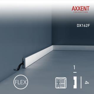 Türumrandung Orac Decor DX162F AXXENT SQUARE flexible Sockelleiste Wandleiste Modernes Design weiß 2m