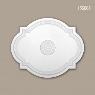 Rosette PROFHOME 156008 Deckenelement Zierelement Jugendstil weiß 54 x 44 cm