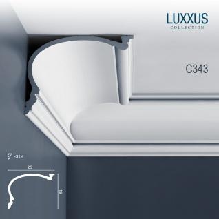 Stuck Wandleiste Orac Decor C343 HERITAGE XL LUXXUS Eckleiste Profilleiste Stuckleiste Deckenprofil klassisch   2 Meter