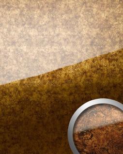 Wandverkleidung selbstklebend WallFace 17161 VINTAGE Wandpaneel Glas-Optik Luxus Dekor kupfer braun | 2, 60 qm