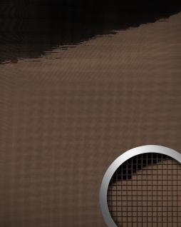 Wandpaneel WallFace 14136 M-Style Design Platte EyeCatch Metall Mosaik Dekor selbstklebend spiegel glanz braun   0, 96 qm