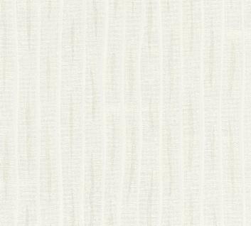 Streifen Tapete Profhome 364741-GU Vliestapete leicht strukturiert mit Streifen matt weiß 5, 33 m2