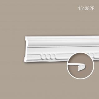 Wand- und Friesleiste PROFHOME 151382F Stuckleiste Flexible Leiste Zierleiste Neo-Empire-Stil weiß 2 m