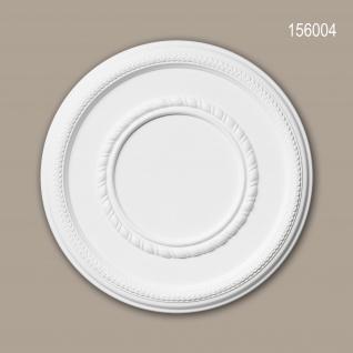 Rosette PROFHOME 156004 Deckenelement Zierelement Neo-Empire-Stil weiß Ø 43, 5 cm