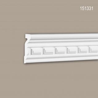 Wand- und Friesleiste PROFHOME 151331 Stuckleiste Zierleiste Wandleiste Neo-Klassizismus-Stil weiß 2 m