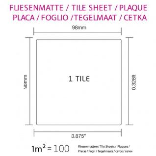 Mosaik Fliese massiv Metall Edelstahl marine gebürstet in grau 1, 6mm stark ALLOY Century-S-S-MB 0, 5 m2 - Vorschau 4
