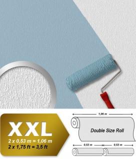Überstreichbare Tapete Vliestapete EDEM 378-60 Struktur Decor Decken Wand Struktur Weiß zum Überstreichen 26, 50 qm