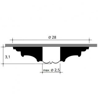 Rosette Stuck Orac Decor R13 LUXXUS Deckenrosette Decken Stuckrosette Blätter Dekor klassisch weiß | 28 cm Durchmesser - Vorschau 2