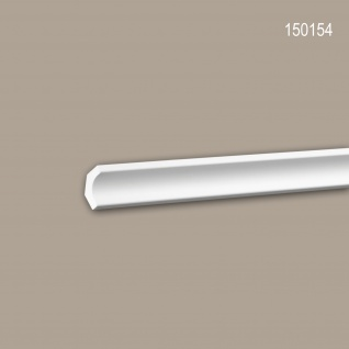 Eckleiste PROFHOME 150154 Zierleiste Stuckleiste Modernes Design weiß 2 m