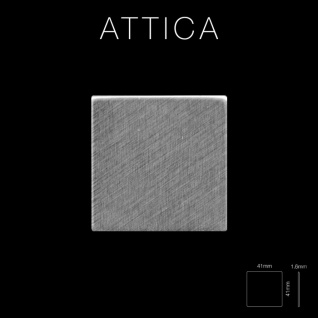 Mosaik Fliese massiv Metall Edelstahl gebürstet in grau 1, 6mm stark ALLOY Attica-S-S-B 0, 85 m2 - Vorschau 2