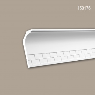 Eckleiste PROFHOME 150176 Zierleiste Stuckleiste Neo-Klassizismus-Stil weiß 2 m