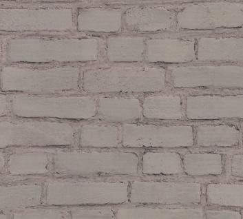 Stein Kacheln Tapete Profhome 374143-GU Vliestapete glatt in Steinoptik matt grau schwarz 5, 33 m2