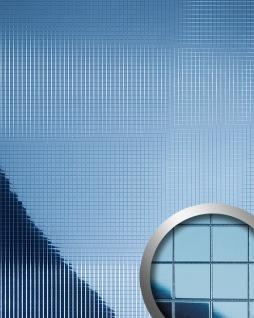 Wandverkleidung Wandpaneel WallFace 10603 M-Style Design Paneel Metall Mosaik Dekoration selbstklebend spiegel ice-blau 0, 96 qm