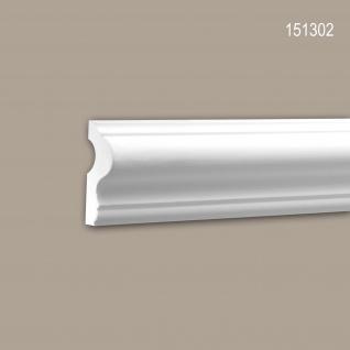 Wand- und Friesleiste PROFHOME 151302 Stuckleiste Zierleiste Wandleiste Neo-Klassizismus-Stil weiß 2 m
