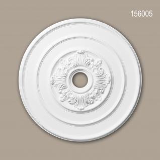Rosette PROFHOME 156005 Deckenelement Zierelement Neo-Klassizismus-Stil weiß Ø 65, 6 cm