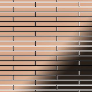 Mosaik Fliese massiv Metall Kupfer gewalzt in kupfer 1, 6mm stark ALLOY Deedee-CM 0, 63 m2