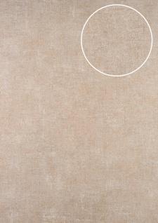 Uni Tapete ATLAS CLA-601-5 Vliestapete glatt im Used Look schimmernd beige beige-grau perl-weiß 5, 33 m2