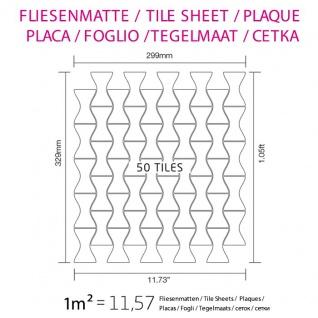 Mosaik Fliese massiv Metall Edelstahl gebürstet in grau 1, 6mm stark ALLOY Kismet-S-S-B Designed by Karim Rashid 0, 86 m2 - Vorschau 5
