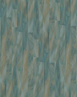 Streifen Tapete Profhome VD219144-DI heißgeprägte Vliestapete geprägt mit Streifen dezent schimmernd blau creme-weiß bronze 5, 33 m2