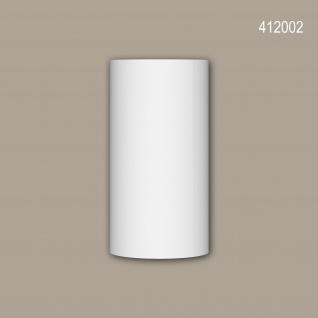 Vollsäulen Segment 412002 Profhome Fassadenstuck Säule Fassadenelement Toskanischer Stil weiß