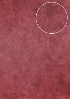 Stein-Kacheln Tapete Atlas ICO-5073-4 Vliestapete glatt Gesprenkelt schimmernd rot rubin-rot 7, 035 m2
