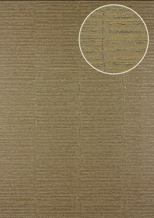 Streifen Tapete Atlas 24C-4505-4 Vliestapete strukturiert mit grafischem Muster und Metallic Effekt braun beige platin 7, 035 m2