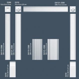 Zierelement Stuck Orac Decor D200 LUXXUS Türumrandung Stuck Eckplatte Decken Wand Dekor Relief Profil klassisch 9 x 9 cm - Vorschau 5